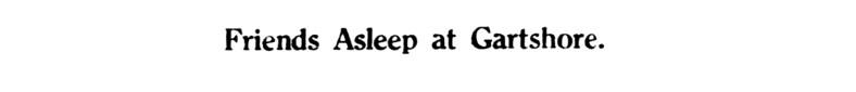 June 1935 - Friends asleep at Gartshore - Gartshore cemetery