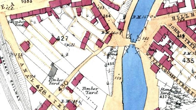 Waterloo Inn, Kirkintilloch 1859 OS map