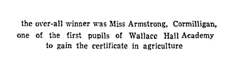 2 Nov 1935 Miss Armstrong, Cormilligan