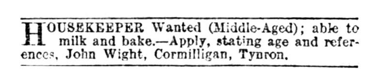 Cormilligan, Nov 1917