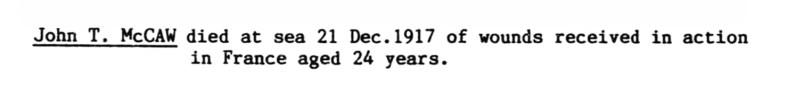 John T McCaw d1917