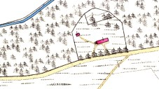 1866 OS map of South Milton Cottage, Logie Coldstone