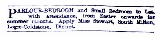 1923 South Milton, Logie Coldstone