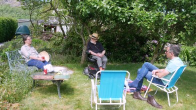 In Tor-Na-Coille orchard - Saturday 12 June 2021 [a chair is empty and how we cry] [but the blossom is becoming fruit]