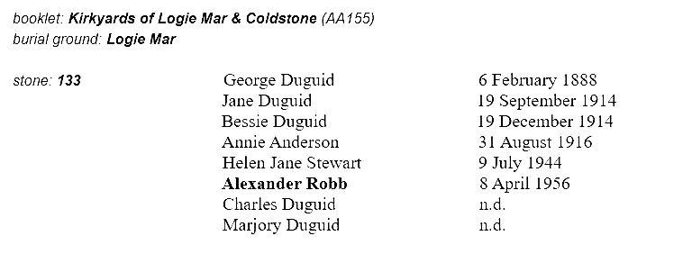 Logie Coldstone MI for Robb of South Milton