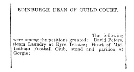 June 1903, Laundy at Eyre Terrace is granted