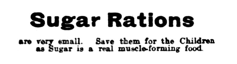 9 April 1920 Richmond's Pharmacy, 61 Pleasance, Edinburgh - sugar rations (1)