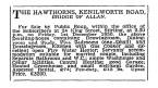 Dec 1950, The Hawthorns, Bridge of Allan