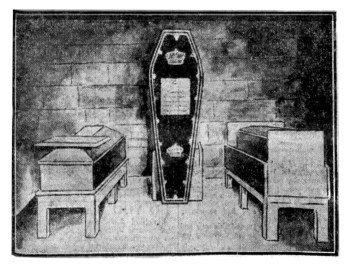 Lord Lindsay, Dunecht - triple lined coffin