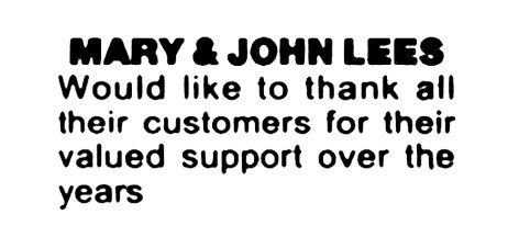 Mary and John Lees