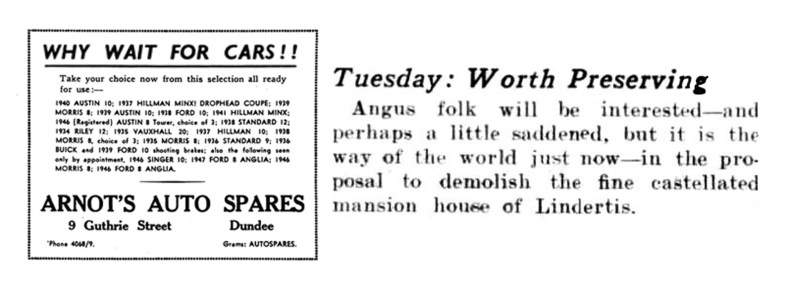 May 1947 Lindertis to be mostly demolished