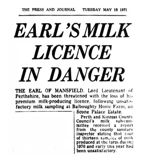 May 1971 Balboughty milk