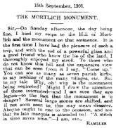 Mortlich Obelisk - 15 Sept 1908 - a rambler's concern