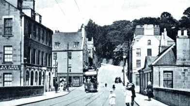 Old Photograph Tram Bridgend Perth Scotland