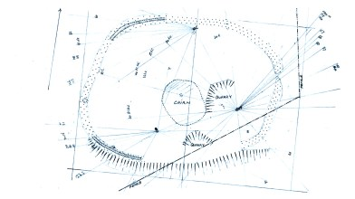 measurements of Mortlich Hill fort
