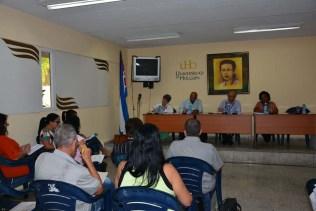 Sesiones del Consejo Provincial para la Educación Superior en los Municipios (COPESUM). Efectuadas en la sede Celia Sánchez Manduley, de la Universidad de Holguín el 6 de enero de 2017. UHO FOTO/Yusmel Pérez Figueredo.