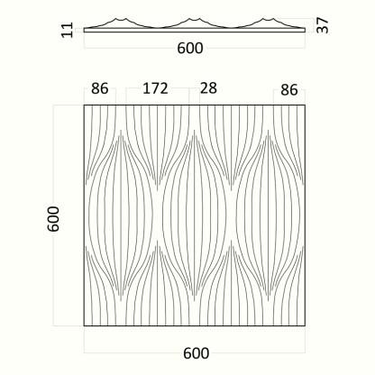 Artpole BLADE гипсовые 3D панели