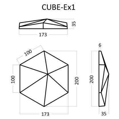 Artpole CUBE Ex1 гипсовые 3D панели