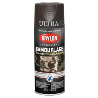 Krylon Camouflage Brown 4292 аэрозольная краска для создания военного камуфляжа