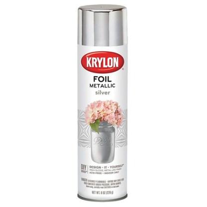 Аэрозольная краска с эффектом фольги Krylon Foil Metallic Silver