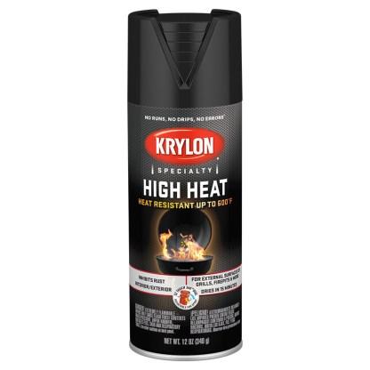 Аэрозольная высокотемпературная краска Krylon High Heat Satin Black 1618
