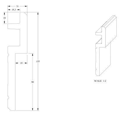 Карниз Orac Decor C395 STEPS