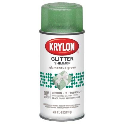 Krylon Glitter Shimmer Glamorous Green 404 Глиттеры в баллончиках