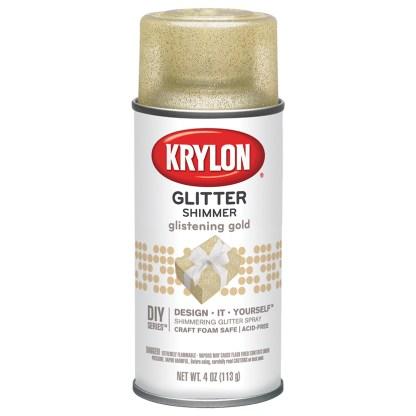 Krylon Glitter Shimmer Glistening Gold 401 Глиттеры в баллончиках