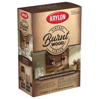 Krylon Vintage Finish Burnt Wood K0843207