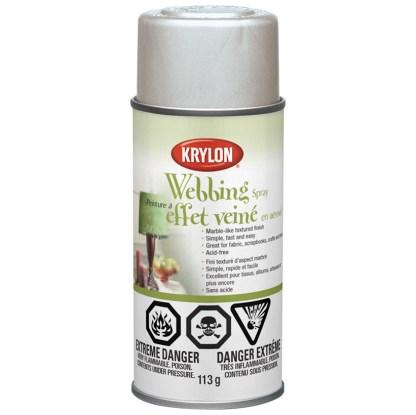 Аэрозольная краска с эффектом Паутина Krylon Webbing Spray Silver 40604