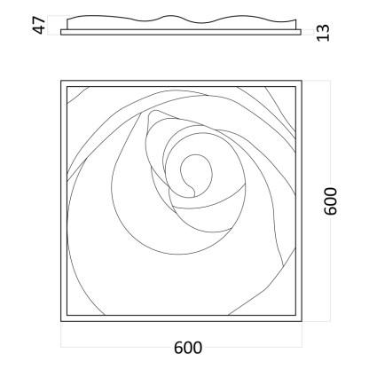 Artpole Rose Пятый Элемент гипсовые 3D панели