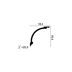 Карниз из полиуретана Orac Decor C338B BA'ROCK