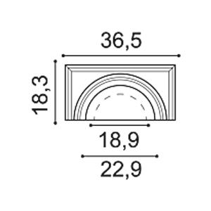 Полукапитель колонны из дюрополимера Orac Decor K1111