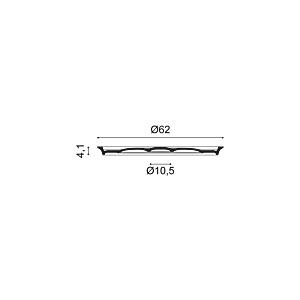 Потолочная розетка из полиуретана Orac Decor R76