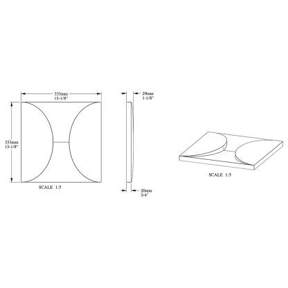 Декоративная панель из полиуретана Orac Decor W107 CIRCLE