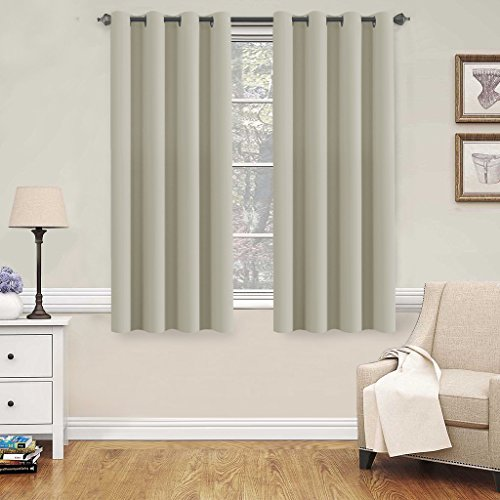 HVersailtex Blackout Room Darkening Thermal Insulated Grommet Window Curtains For Living Room
