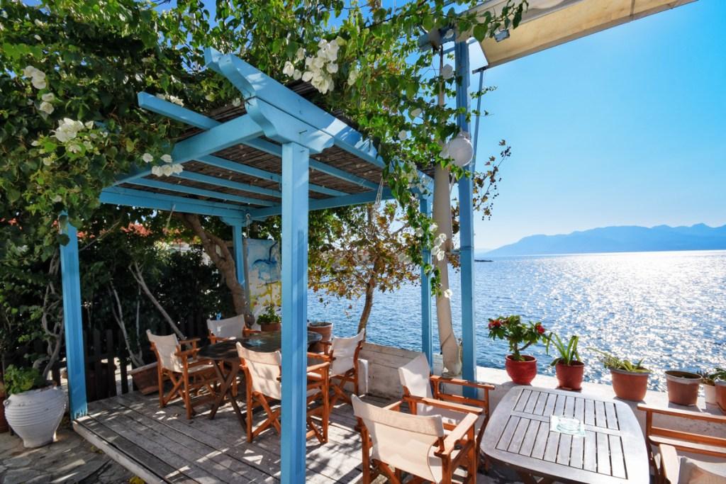 view onto the Aegean Sea from Perdika on Aegina