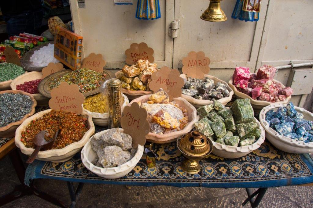 incense for sale in the Old Town of Jerusalem