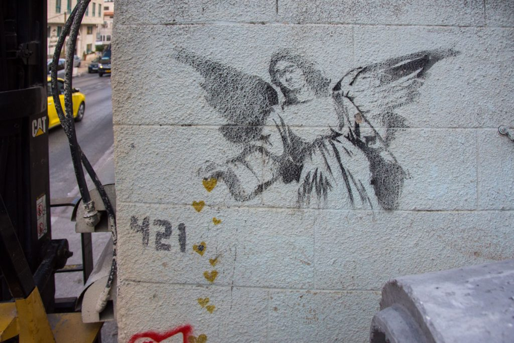 Banksy Street Art West Bank Bethlehem
