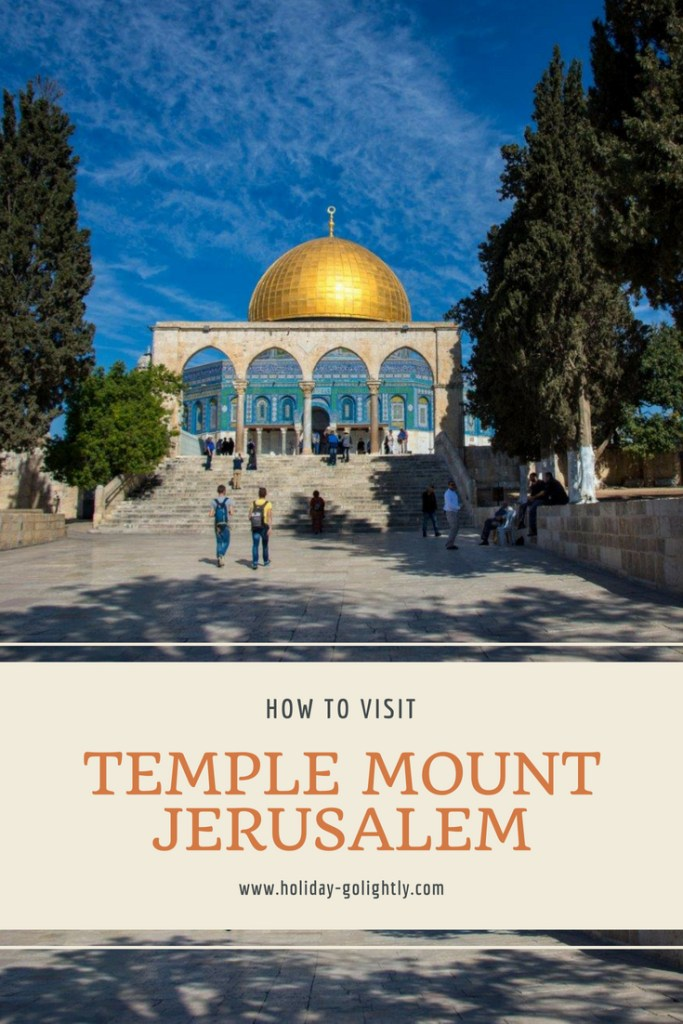 Temple Mount pin