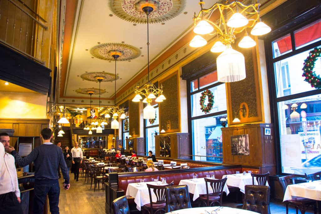 Cafe Central Interior Budapest