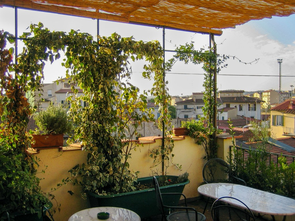 Our terrace in Florence