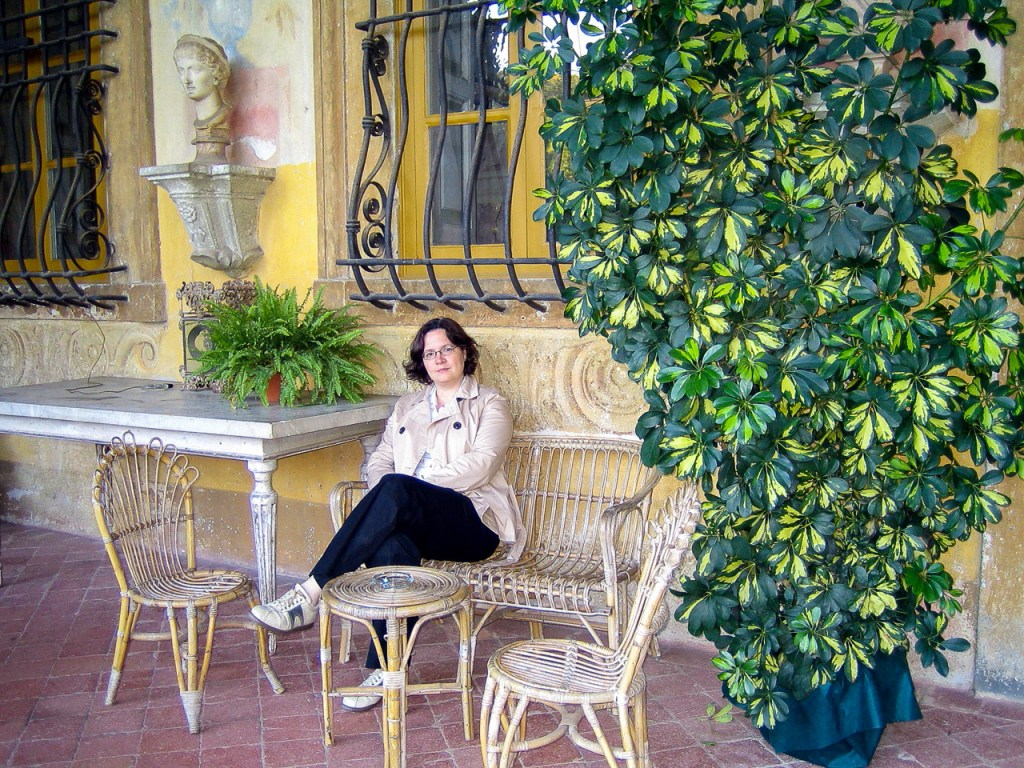 Lounging in Lucca