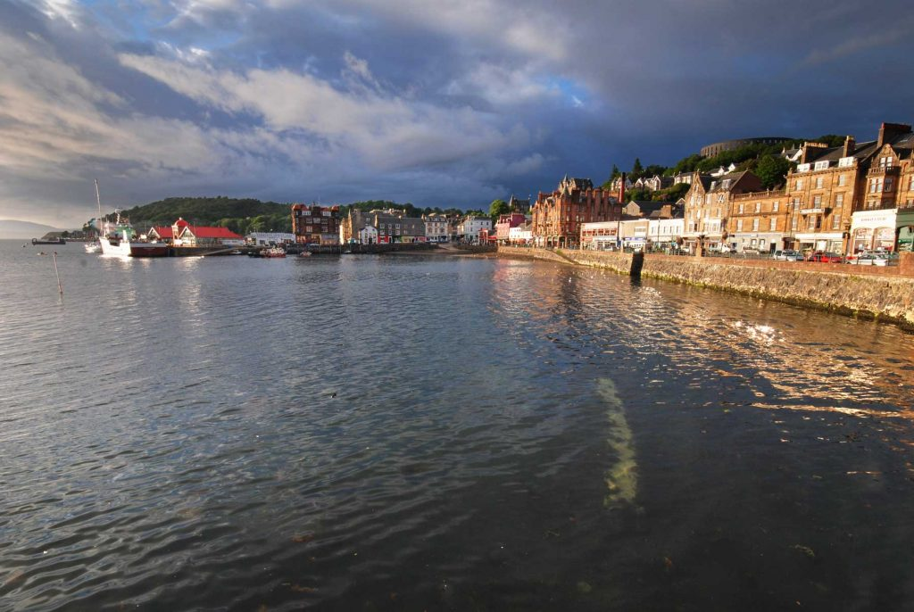 Late afternoon view on Oban in SCotland