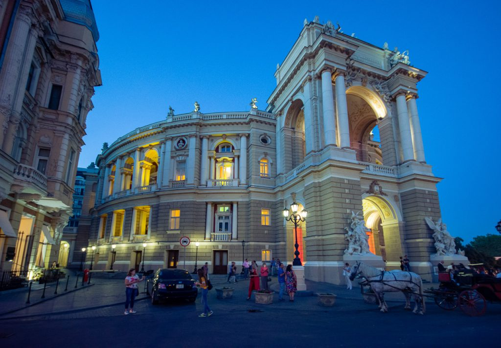 Odessa Opera house by night