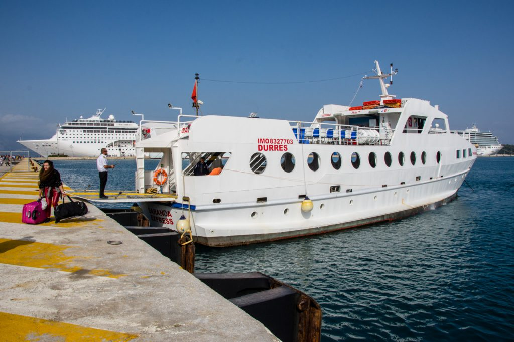 The Saranda Express ferry from Corfu to Saranda operated by Joy Lines