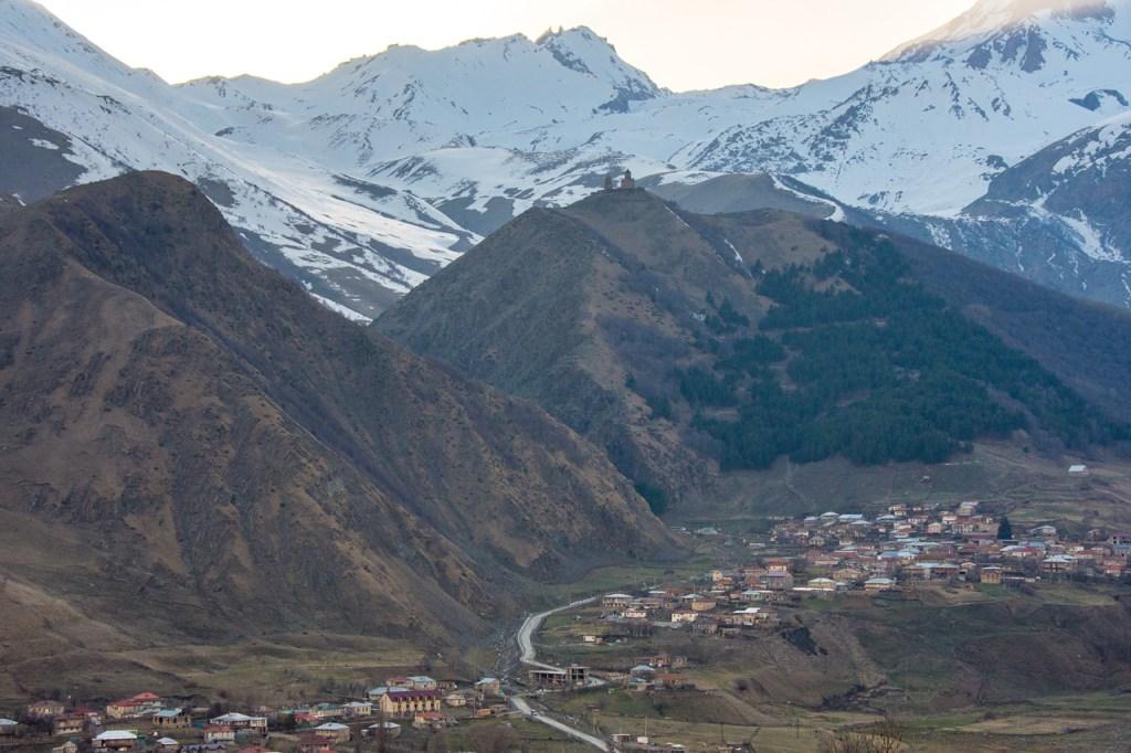 Gergeti Trinity Church and Mount Kazbek