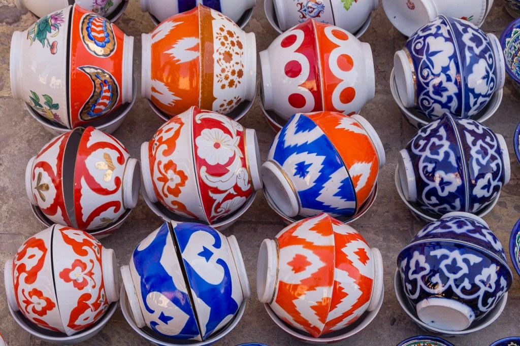 vintage rice bowls, Bukhara