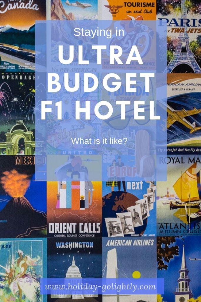 ultra budget hotel F1 cheap pin