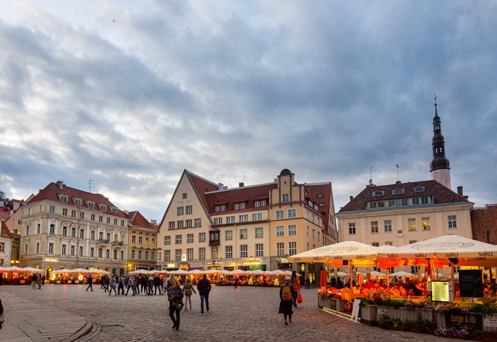 Old Town Square in Tallinn